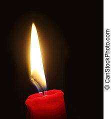φλόγα , φως κεριών