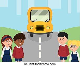 φοιτητόκοσμος , λεωφορείο , ιζβογις , δρόμοs , παιδιά
