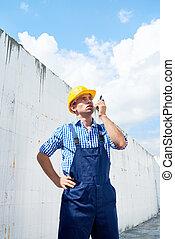 φορητός , δομή , ραδιόφωνο , επιστάτης , χρησιμοποιώνταs