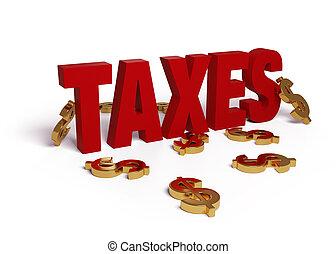 φορολογίες , δολλάρια , εικόνα