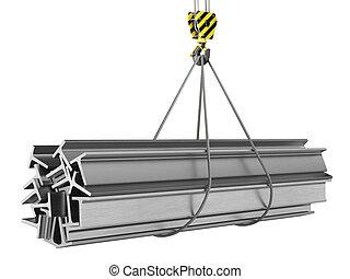φορτίο , γάντζος , γερανός , 3d , απόδοση