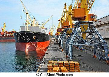 φορτίο , λιμάνι , έχω όγκο ή μέγεθος , κάτω από , πλοίο , ...