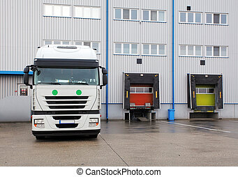 φορτίο , μεταφορά , - , φορτηγό , μέσα , ο , αποθήκη