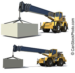 φορτίο , φορτίο , jib, φόντο. , κινητός , drawing., crane.,...