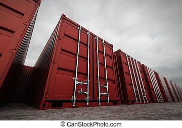 φορτίο , containers.