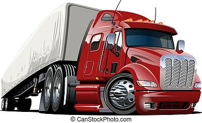 φορτηγό , γελοιογραφία , μισό