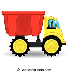 φορτηγό , εικόνα , σκουπιδότοπος , μικροβιοφορέας , toy.
