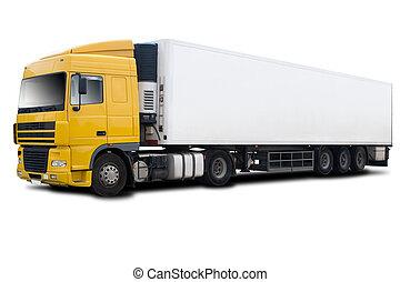 φορτηγό , κίτρινο