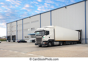φορτηγό , μέσα , αποθήκη