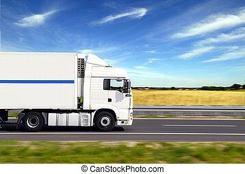 φορτηγό , με , φορτίο