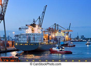φορτηγό πλοίο , αποβάθρα