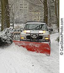 φορτηγό , χιόνι , δρόμοs , εκχιονιστήρας