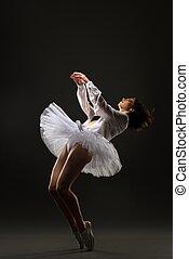 φούστα μπαλαρίνας , μελαχροινή , χορός , μπαλέτο , αδύνατες