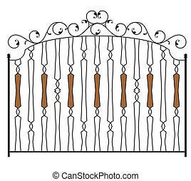 φράκτηs , πόρτα , σίδερο , κερδίζω , κατειργασμένος , πύλη