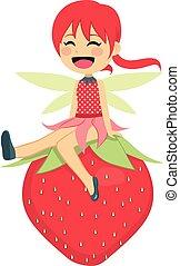 φράουλα , νεράιδα , ευτυχισμένος