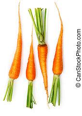 φρέσκος , καρότο , ανταμοιβή , με , αγίνωτος φύλλο