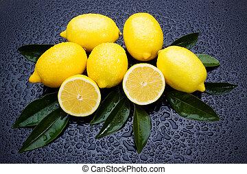 φρέσκος , λεμόνι , φρούτο