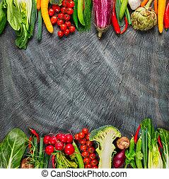 φρέσκος , πέτρα , λαχανικά , συλλογή