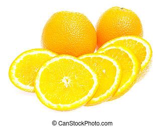 φρέσκος , φόντο , απομονωμένος , πορτοκαλέα , άσπρο