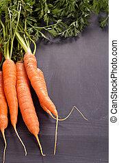 φρέσκος , φύλλα , καρότο , πράσινο