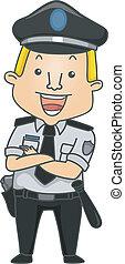 φρουρός ασφάλειας , ενασχόληση