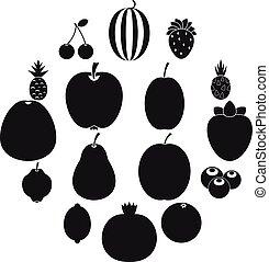 φρούτο , απεικόνιση , θέτω