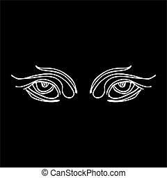 φυλετικός , γραμμή , μάτια , μικροβιοφορέας , τέχνη