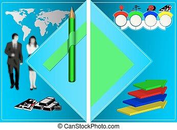 φυλλάδιο , μολύβι , infographics, αρμοδιότητα ακόλουθοι