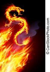 φωτιά , δράκος