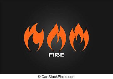 φωτιά , θέτω