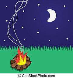 φωτιά κατασκήνωσης , μικρό