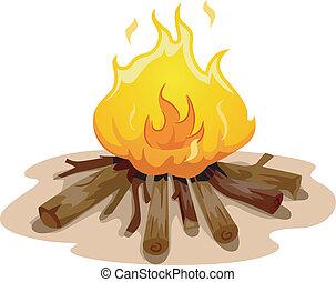 φωτιά , κατασκηνώνω