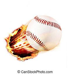 φωτιά , μπέηζμπολ , διαμέσου