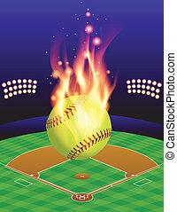 φωτιά , πεδίο , φόντο , softball