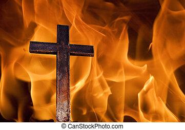 φωτιά , σταυρός