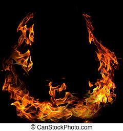 φωτιά , φόντο