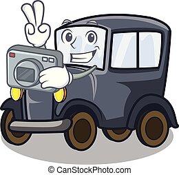 φωτογράφος , γριά , γελοιογραφία , αυτοκίνητο , μέσα ,...
