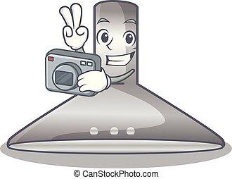 φωτογράφος , κουζίνα , απομονωμένος , κουκούλα , γελοιογραφία