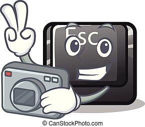 φωτογράφος , κουμπί , επισύναψα , esc , πληκτρολόγιο , γελοιογραφία