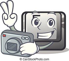 φωτογράφος , κουμπί , φά , installed, επάνω , γελοιογραφία ,...