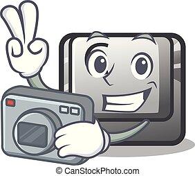 φωτογράφος , κουμπί , c , απομονωμένος , μέσα , ο ,...