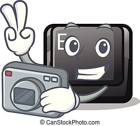 φωτογράφος , κουμπί , e , σχήμα , γουρλίτικο ζώο