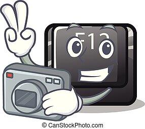 φωτογράφος , κουμπί , f12, μέσα , ο , γελοιογραφία , σχήμα