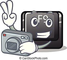 φωτογράφος , κουμπί , f9 , μέσα , ο , χαρακτήρας , σχήμα