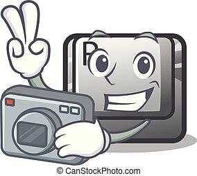 φωτογράφος , κουμπί , r , σχήμα , γουρλίτικο ζώο