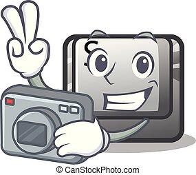 φωτογράφος , κουμπί , s , επάνω , ένα , ηλεκτρονικός...