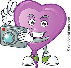 φωτογράφος , πορφυρό , balloon, φωτογραφηκή μηχανή , κομψός...