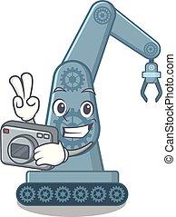 φωτογράφος , ρομπότ , γελοιογραφία , mechatronic, επάνω ,...