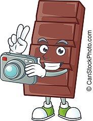 φωτογράφος , σοκολάτα , φωτογραφηκή μηχανή , χαρακτήρας ,...