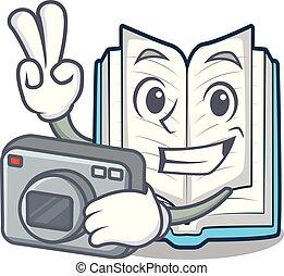 φωτογράφος , σχήμα , βιβλίο , ανοιγμένα , γουρλίτικο ζώο